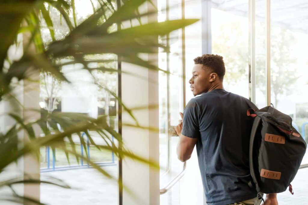 Black-skin-student-transferring-college